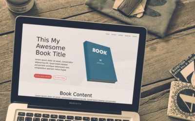 Free Divi Layout: Selling a Book #2 Light & Dark