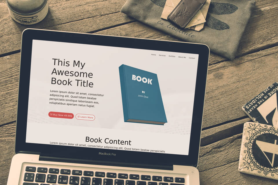 Free Divi Layout: Selling a Book #2 Light & Dark 1