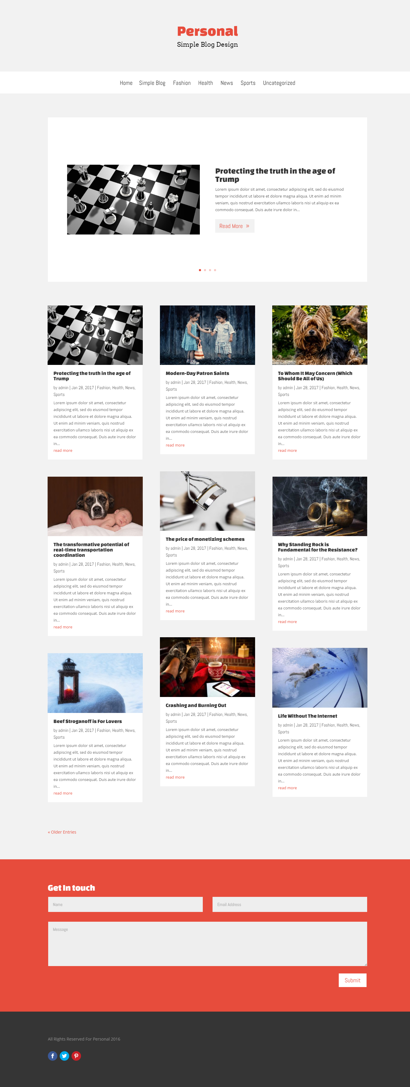 free simple blog divi layout