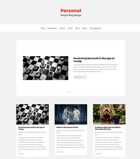 Free Simple Blog Divi layout 1