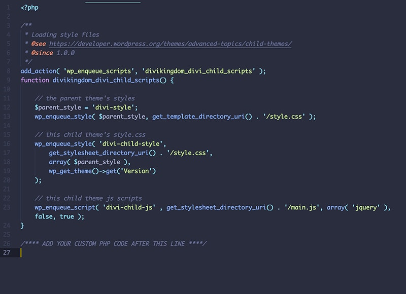 Add Custom PHP Using a Child Theme
