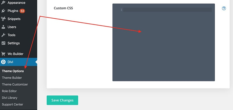 Add Custom CSS to Divi Theme