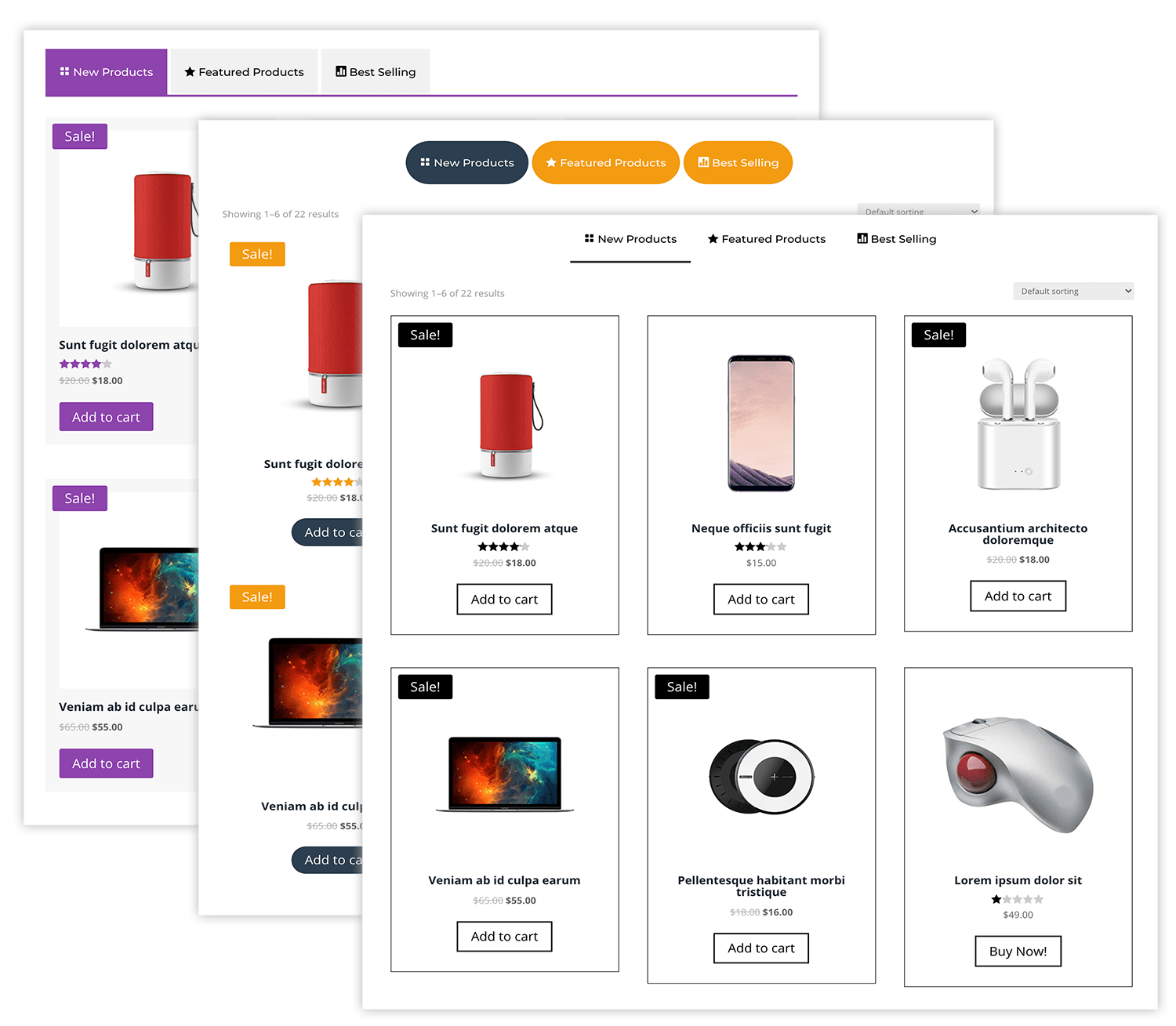 Shop Tabs Module For Divi 4