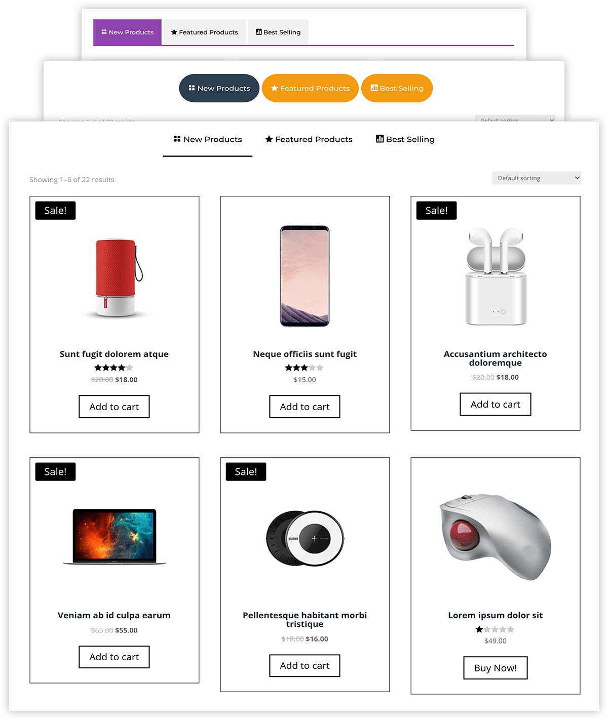 Shop Tabs Module For Divi 1