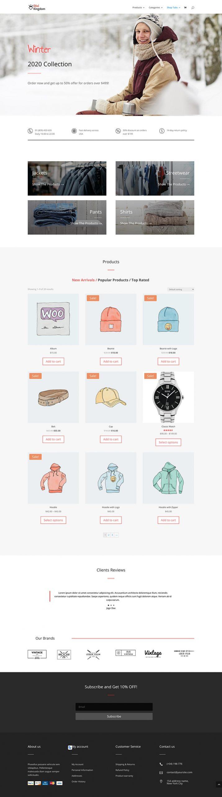 shop tabs module layout 2