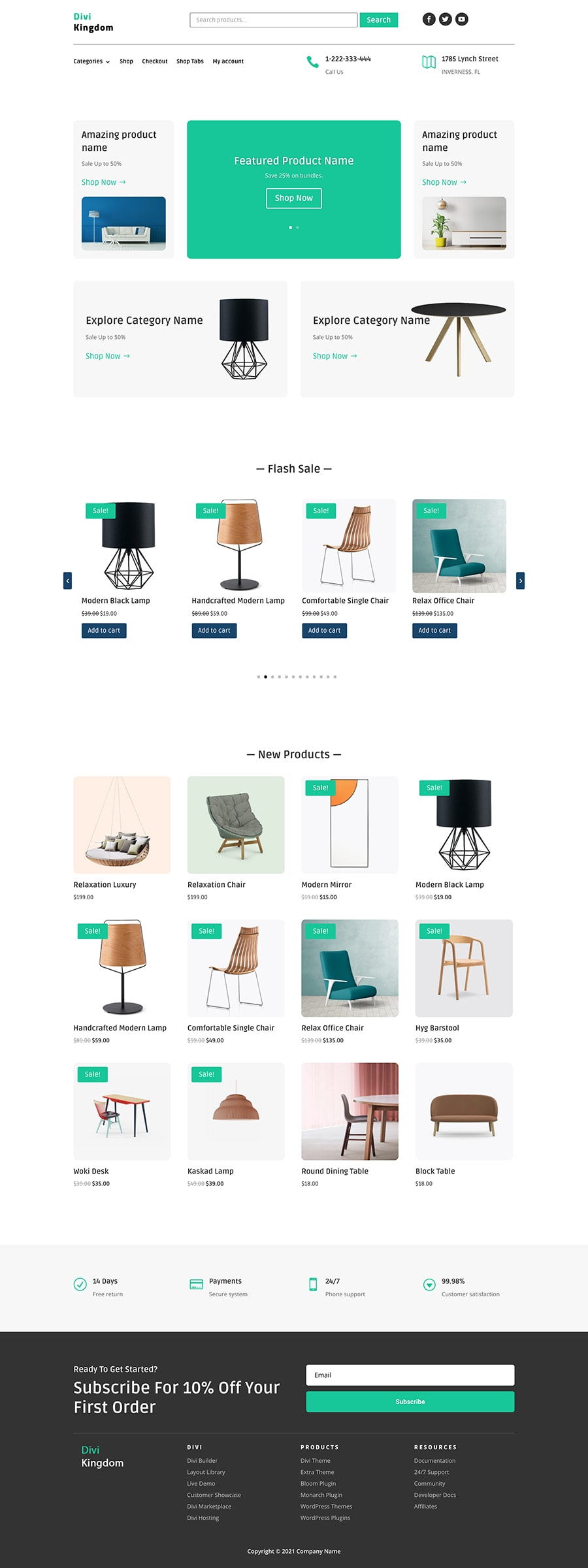 WooCommerce product carousel module for Divi