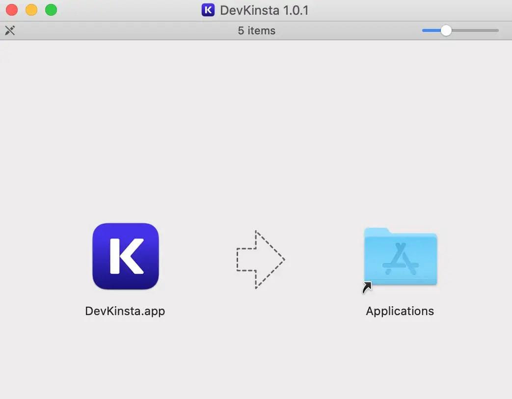 install DevKinsta on mac