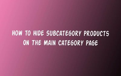 How to remove subcategory products from the main category page